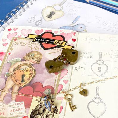 Mythology 18ct Gold Diamond Key and Heart Necklace