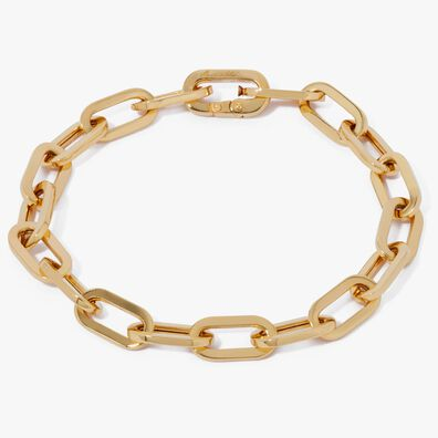 18ct Gold Cable Chain Large Bracelet