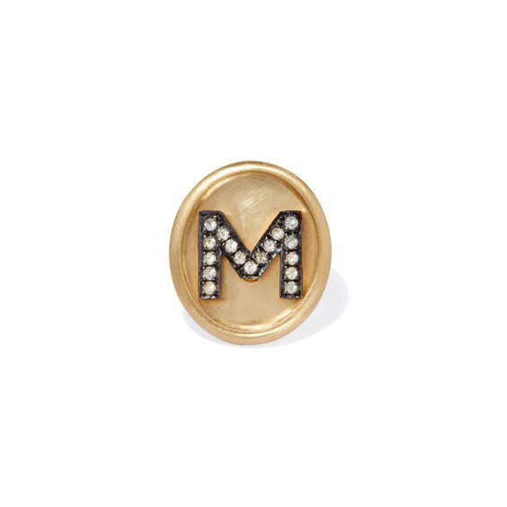 18ct Gold Diamond Initial M Face | Annoushka jewelley