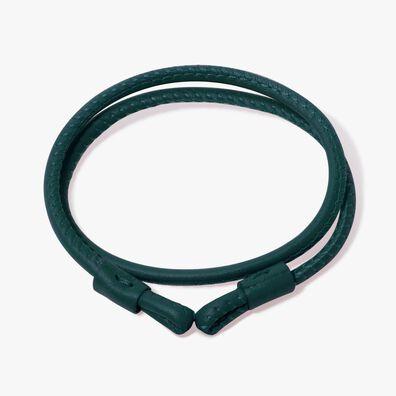 35cms Green Leather Bracelet
