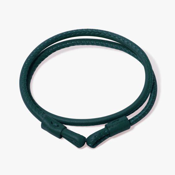 35cms Green Leather Bracelet | Annoushka jewelley