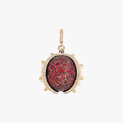 18ct Rose Gold and Sapphire Conker Seed Charm