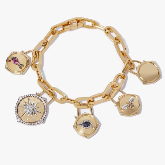 Lovelock 18ct Gold Charm Bracelet | Annoushka jewelley