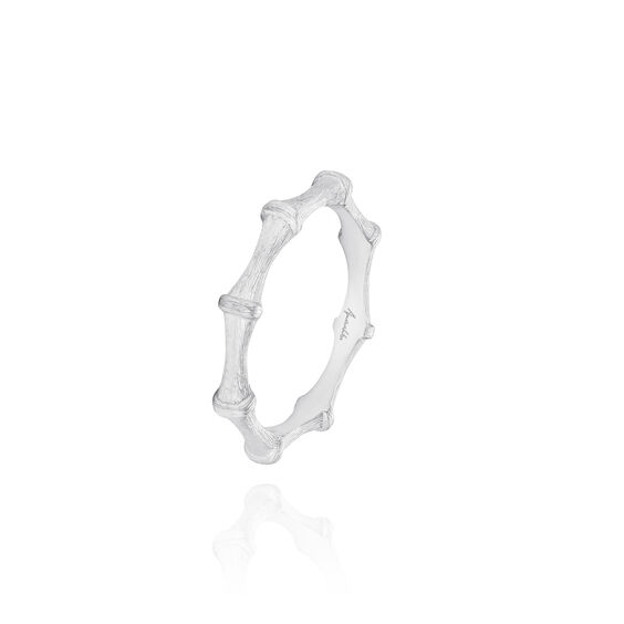 Bamboo 18ct White Gold Ring