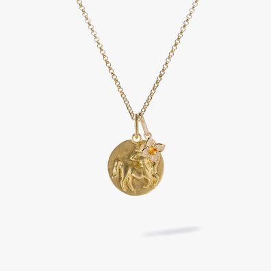 Gold Sagittarius & Citrine November Birthstone Necklace