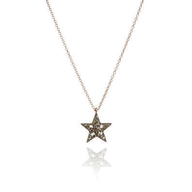 Love Diamonds 18ct Rose Gold Diamond Star Necklace