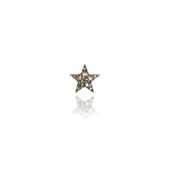 Love Diamonds 18ct Rose Gold Diamond Star Single Stud
