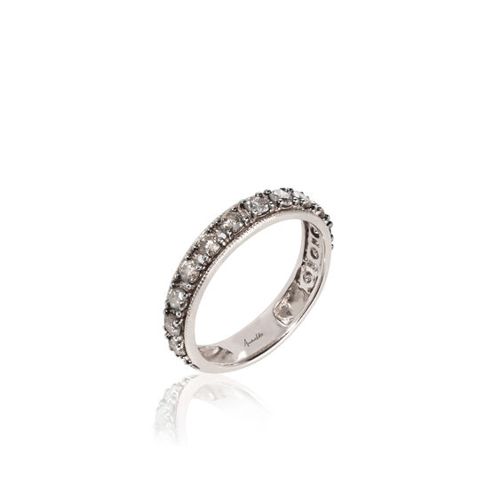 Dusty Diamonds 18ct White Gold Eternity Ring | Annoushka jewelley