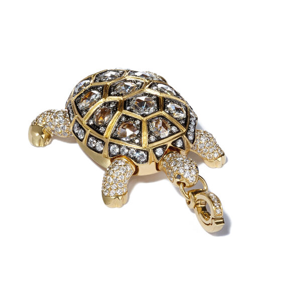 Mythology 18ct Gold 4.02 ct Diamond Turtle Locket | Annoushka jewelley