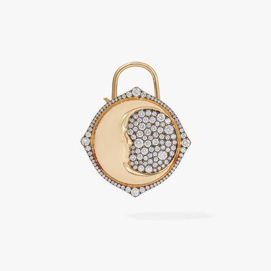 Lovelock 18ct Gold Diamond Moon Large Charm