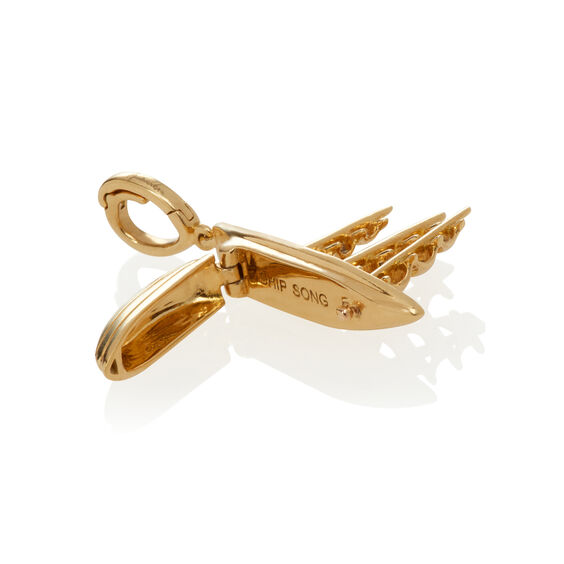 18ct Gold 'The Ship Song' Charm