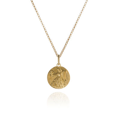 Mythology 18ct Gold Virgo Necklace