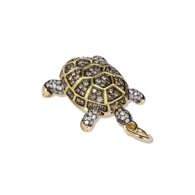 Mythology 18ct Gold Diamond Baby Turtle Pendant