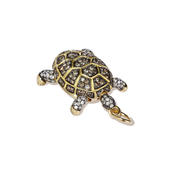 Mythology 18ct Gold Diamond Baby Turtle Pendant | Annoushka jewelley