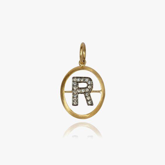 18ct Gold & Diamond Initial R Pendant