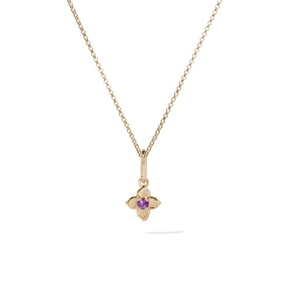 Tokens 14ct Gold Amethyst Necklace | Annoushka jewelley