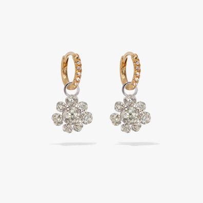 Marguerite 18ct White & Yellow Gold Diamond Earrings