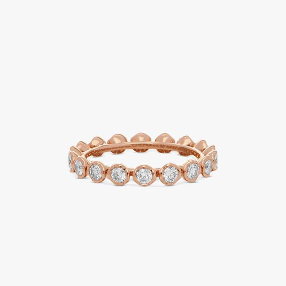 Marguerite 18ct Rose Gold Diamond Eternity Ring | Annoushka jewelley