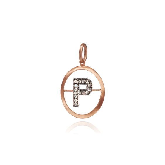 18ct Rose Gold Initial P Pendant | Annoushka jewelley
