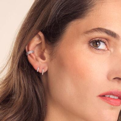 Dusty Diamonds 18ct White Gold Diamond Ear Trio