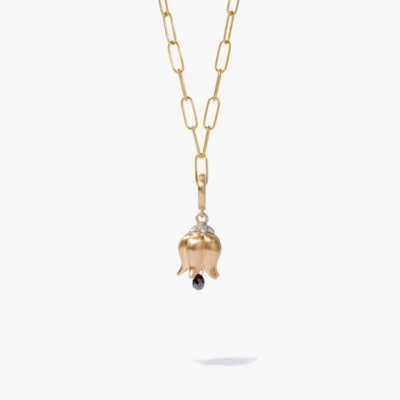 18ct Yellow Gold & Diamond Tulip Charm Necklace | Annoushka jewelley