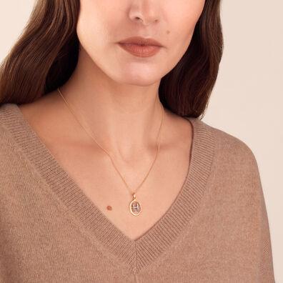 18ct Gold Diamond Initial H Pendant