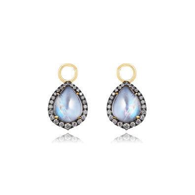 18ct Gold Moonstone Diamond Earring Drops 39bdd982c30