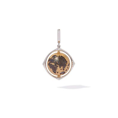 Mythology 18ct Gold Diamond Spinning Globe Charm