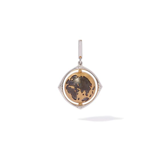 Mythology 18ct Gold Diamond Spinning Globe Charm | Annoushka jewelley