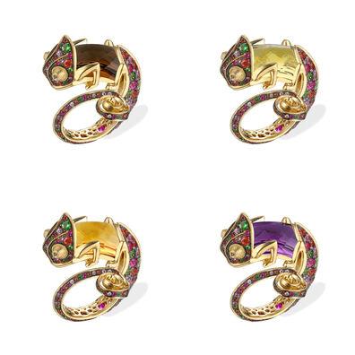 18ct Gold Interchangeable Sapphire Chameleon Ring