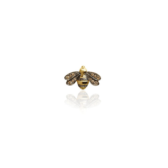 Love Diamonds 18ct Gold Diamond Bee Single Stud