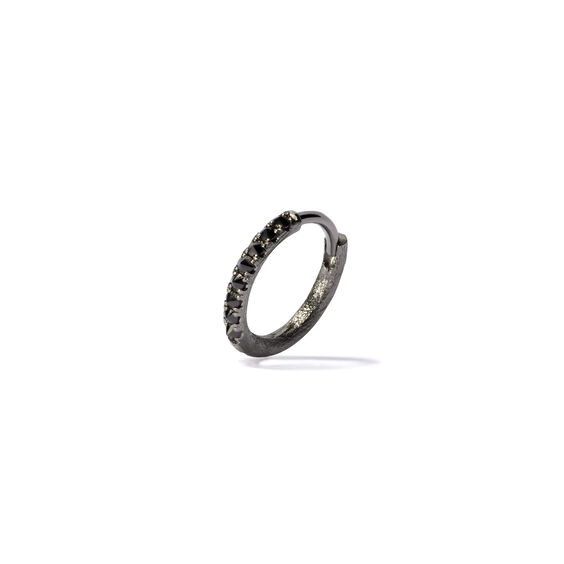 Dusty Diamonds 18ct White Gold Black Diamond 12mm Hoop | Annoushka jewelley