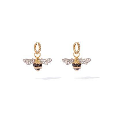Mythology 18ct Gold Diamond Bee Earrings