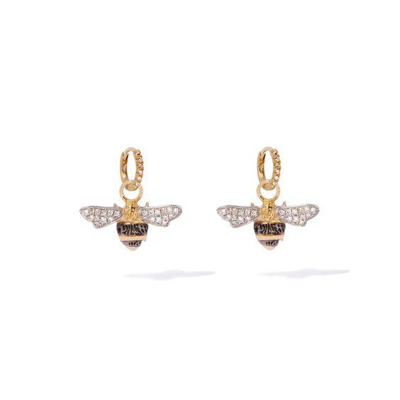 Mythology 18ct Gold Diamond Bee Earrings   Annoushka jewelley