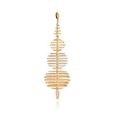 Garden Party 18ct Gold Diamond Large Pendant