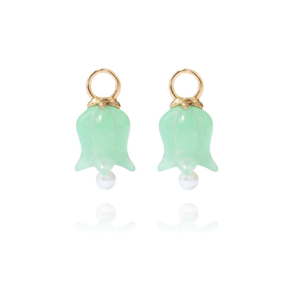 18ct Gold Jade Tulip Earring Drops | Annoushka jewelley