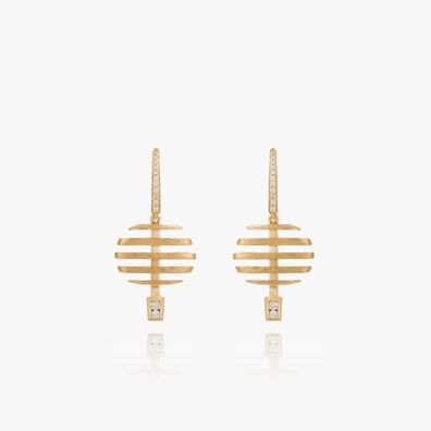 Garden Party 18ct Gold Diamond Small Earrings