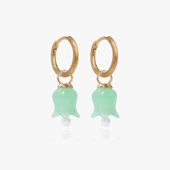 18ct Gold Jade Tulip Earrings | Annoushka jewelley