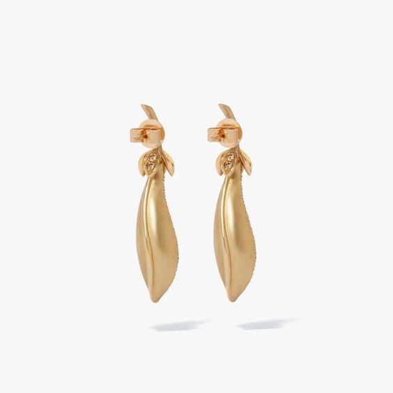 Mythology 18ct Gold Pearl Diamond Peapod Earrings | Annoushka jewelley