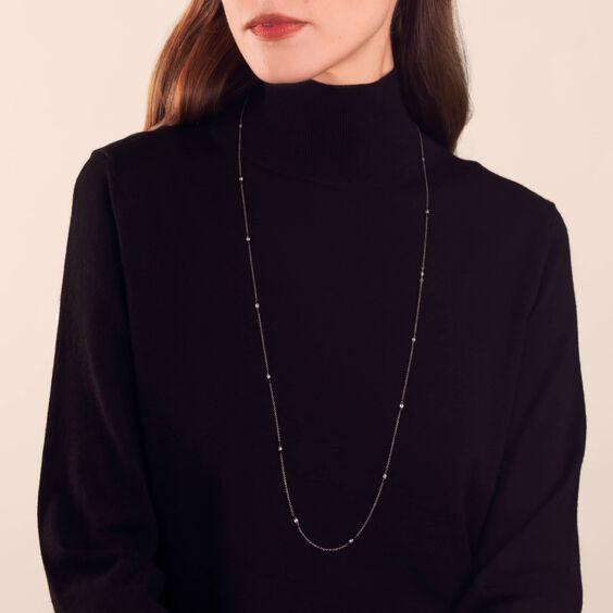 Eclipse 18ct White Gold Diamond Briolette Chain   Annoushka jewelley