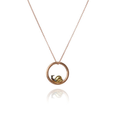 Hoopla 18ct Rose Gold Snail Necklace