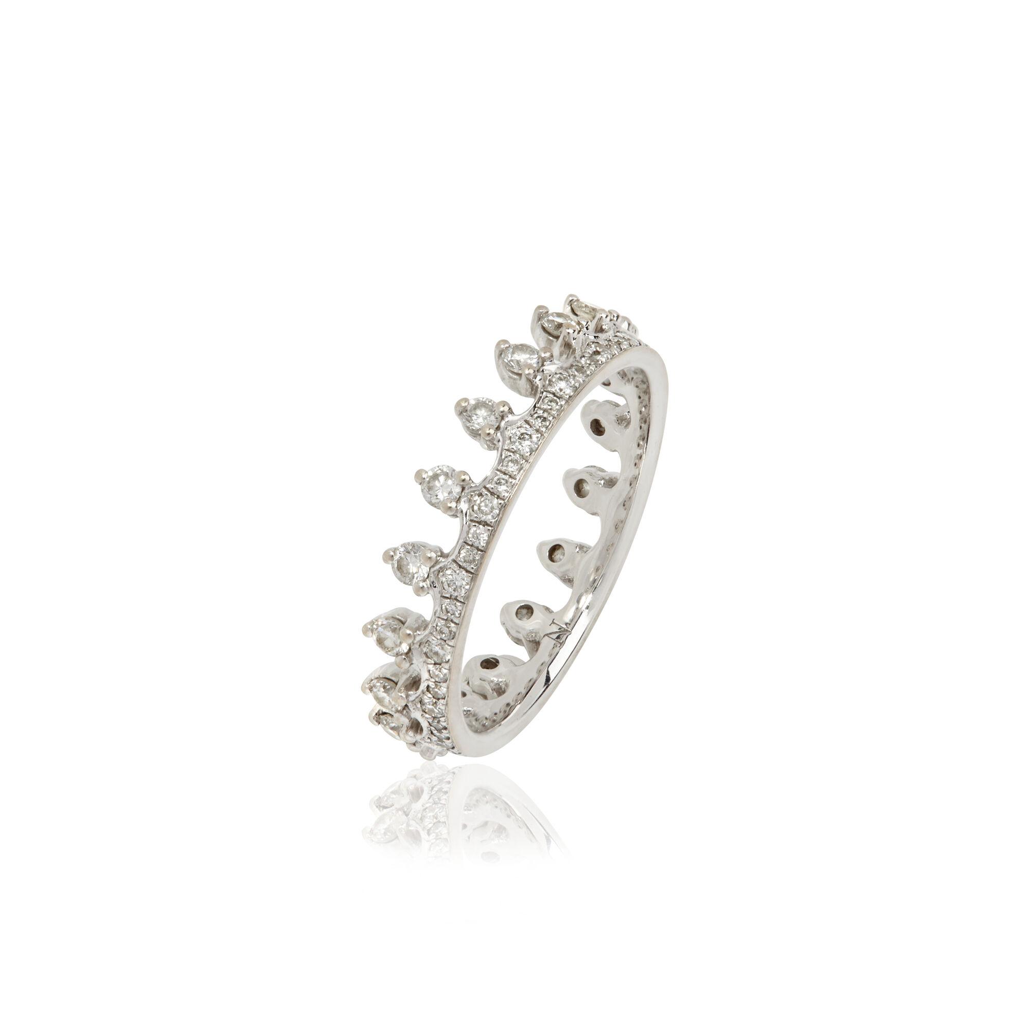 Crown 18ct White Gold Diamond Ring Annoushka Us