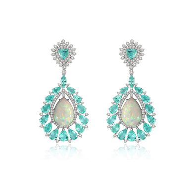 Sutra Paraiba Tourmaline & Opal Earrings