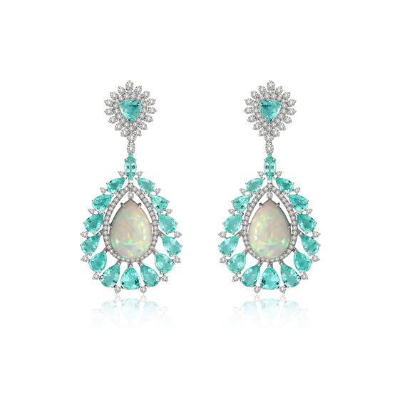 Sutra Paraiba Tourmaline & Opal Earrings | Annoushka jewelley