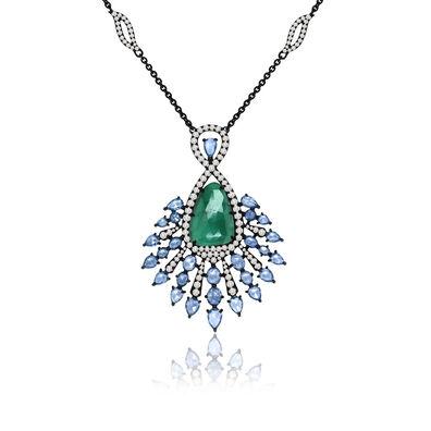 Sutra Emerald Pendant