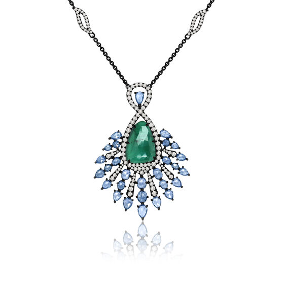 Sutra Emerald Pendant | Annoushka jewelley
