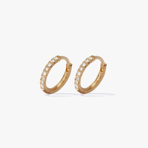 Dusty Diamonds 18ct Gold Diamond 12mm Hoops | Annoushka jewelley