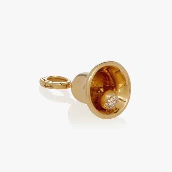 "18ct Gold & Diamond ""Do You Love Me?"" Charm | Annoushka jewelley"