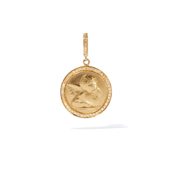 Mythology 18ct Gold Diamond Cherub Charm | Annoushka jewelley