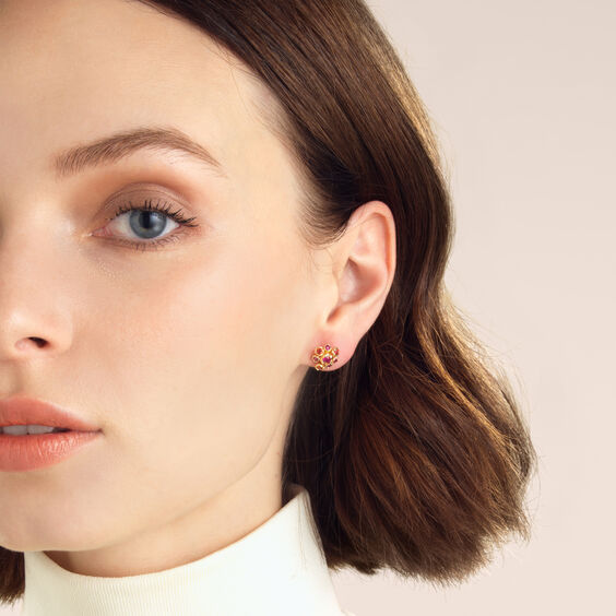 Hidden Reef 18ct Gold Sapphire Stud Earrings